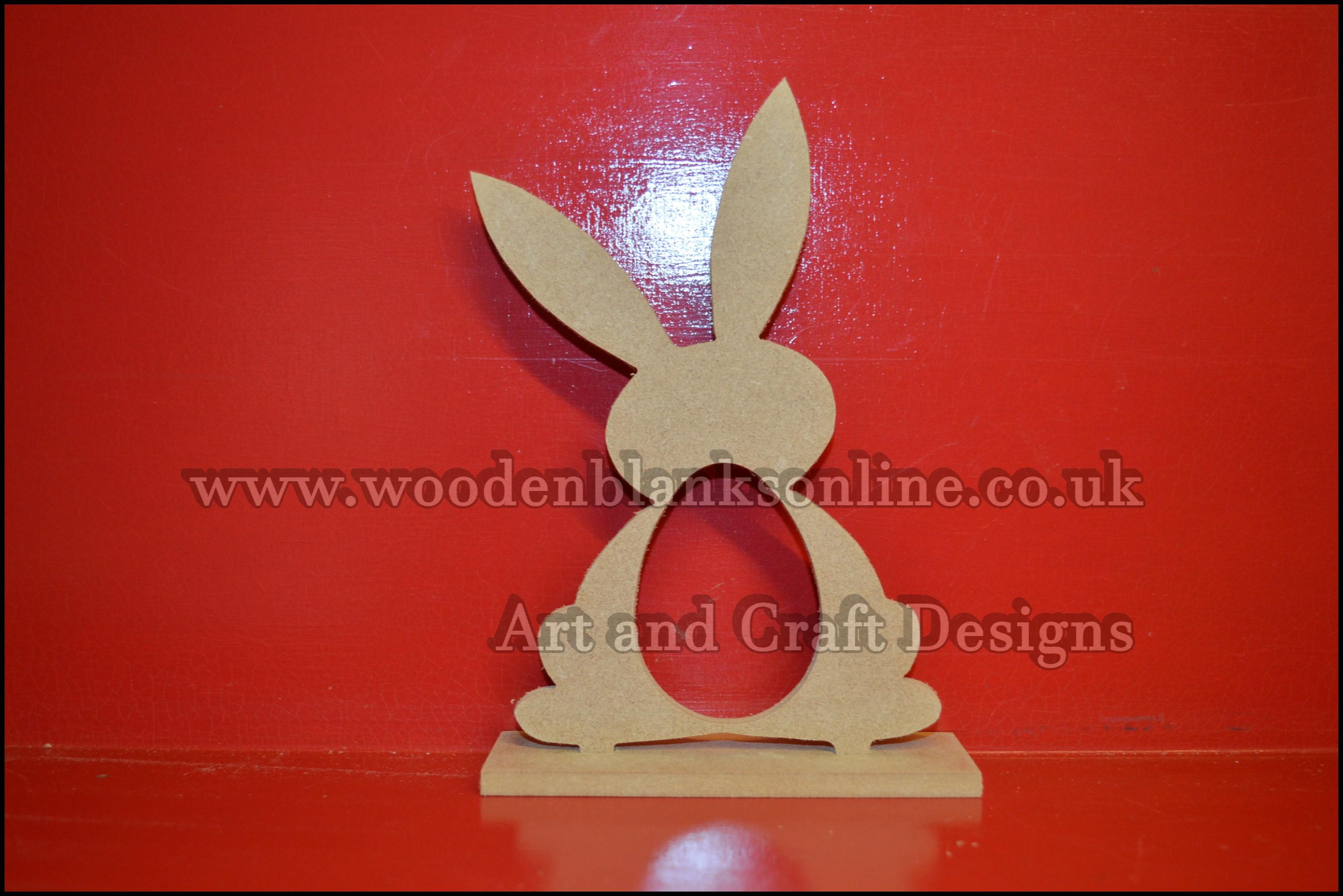 Bunny egg holder on plinth