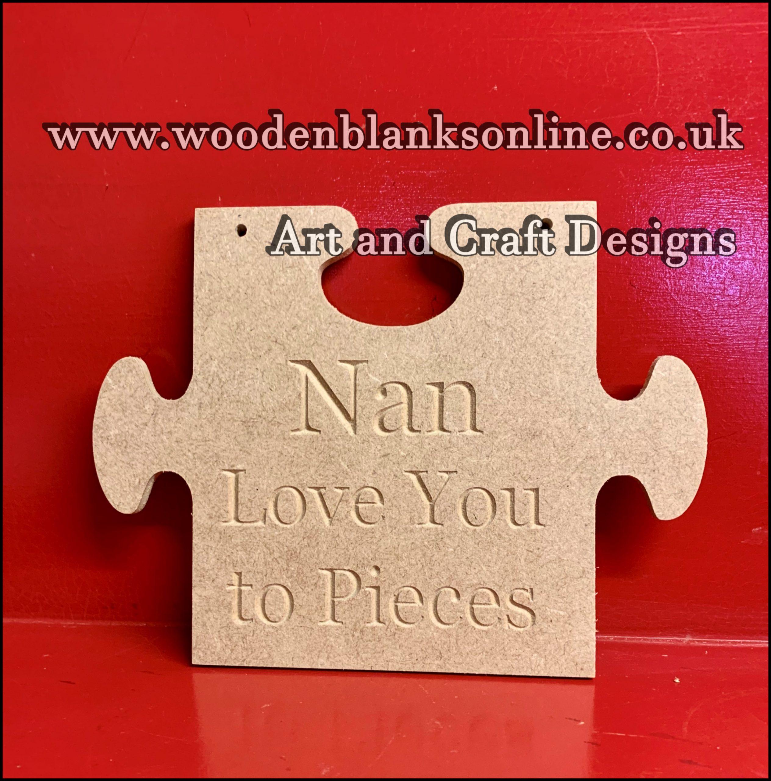 Nan love you to pieces jigsaw