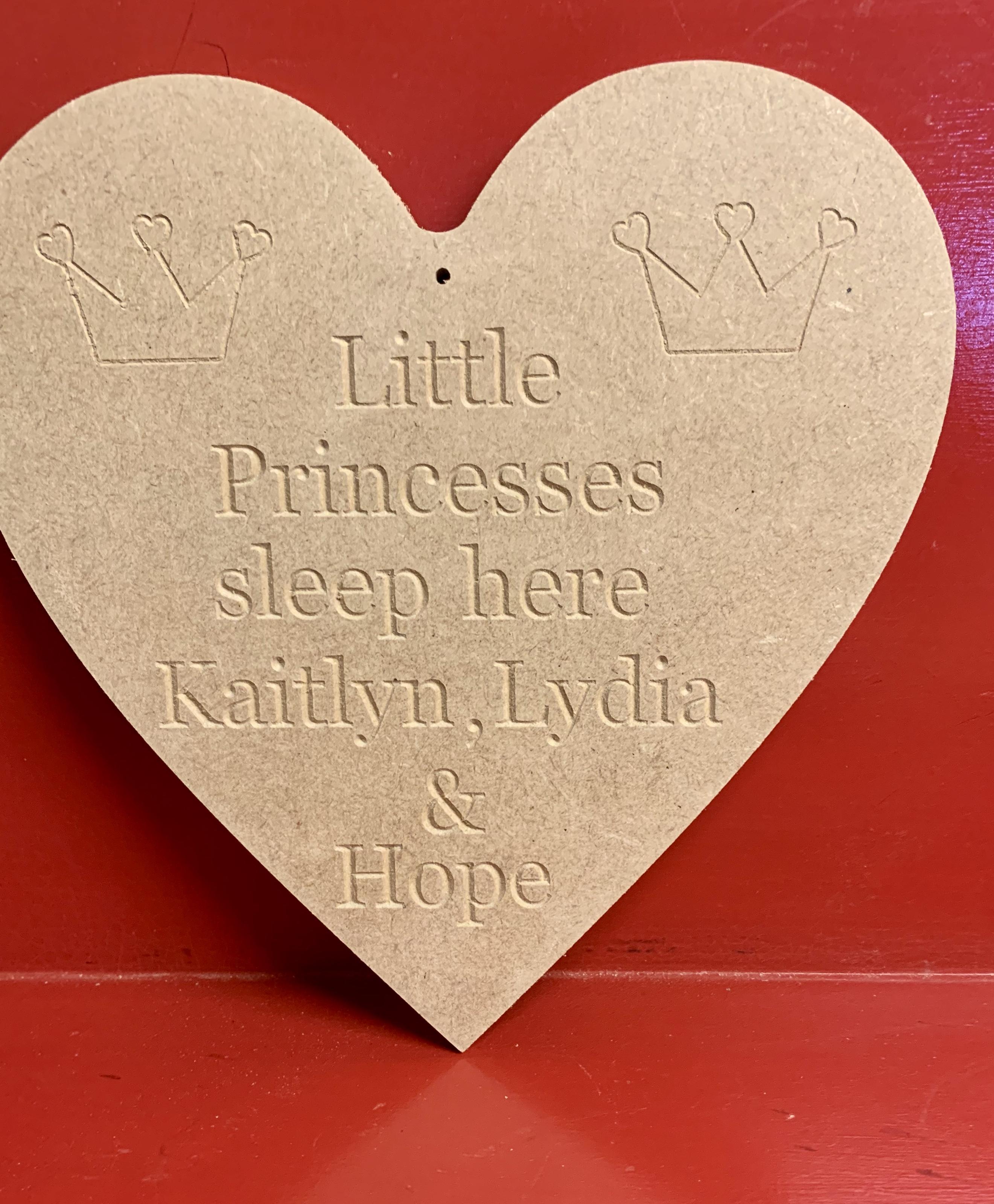 Little princesses sleep here personalised